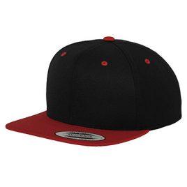 Classic 2-Tone Snapback met logo - Zwart & Rood
