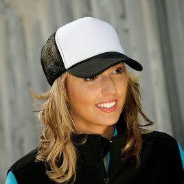 Mesh snapback cap zwart wit