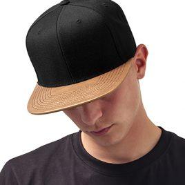 metallic visor snapback gold