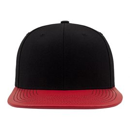 Metallic Visor Snapback Red