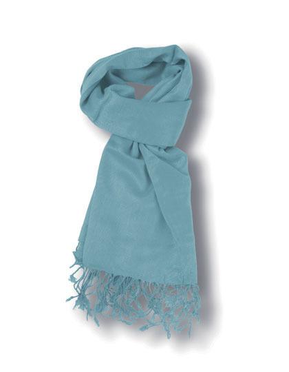 Pashma Sjaal Licht Blauw