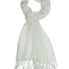pashmina sjaal wit