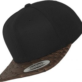 Leather Snapback Voorzijde
