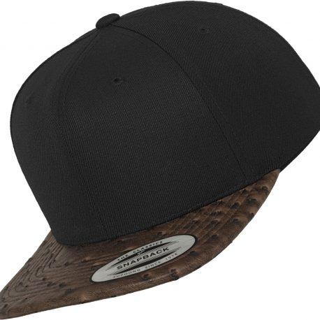 Leather Snapback Voorzijde