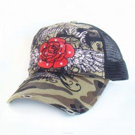 Miami Ink – Camo Trucker Red Rose