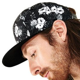 Hawaiian Black Snapback