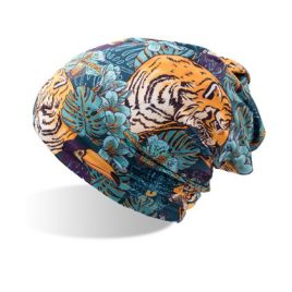 Tiger Beanie muts met tijger opdruk