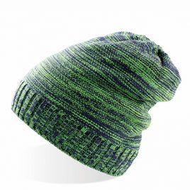 Groen navy lange beanie