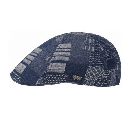 Stetson Flat Cap Texas Denim Patchwork-XL