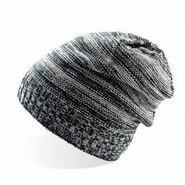 Zwart grijze lange beanie