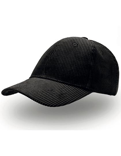 Cordy Cap pet van zwarte corduroy ribstof