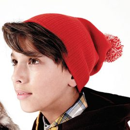 Junior Snowstar Beanie Leuke rode kindermuts