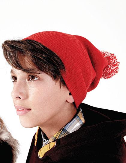 Junior Snowstar Beanie Leuke rode kindermuts