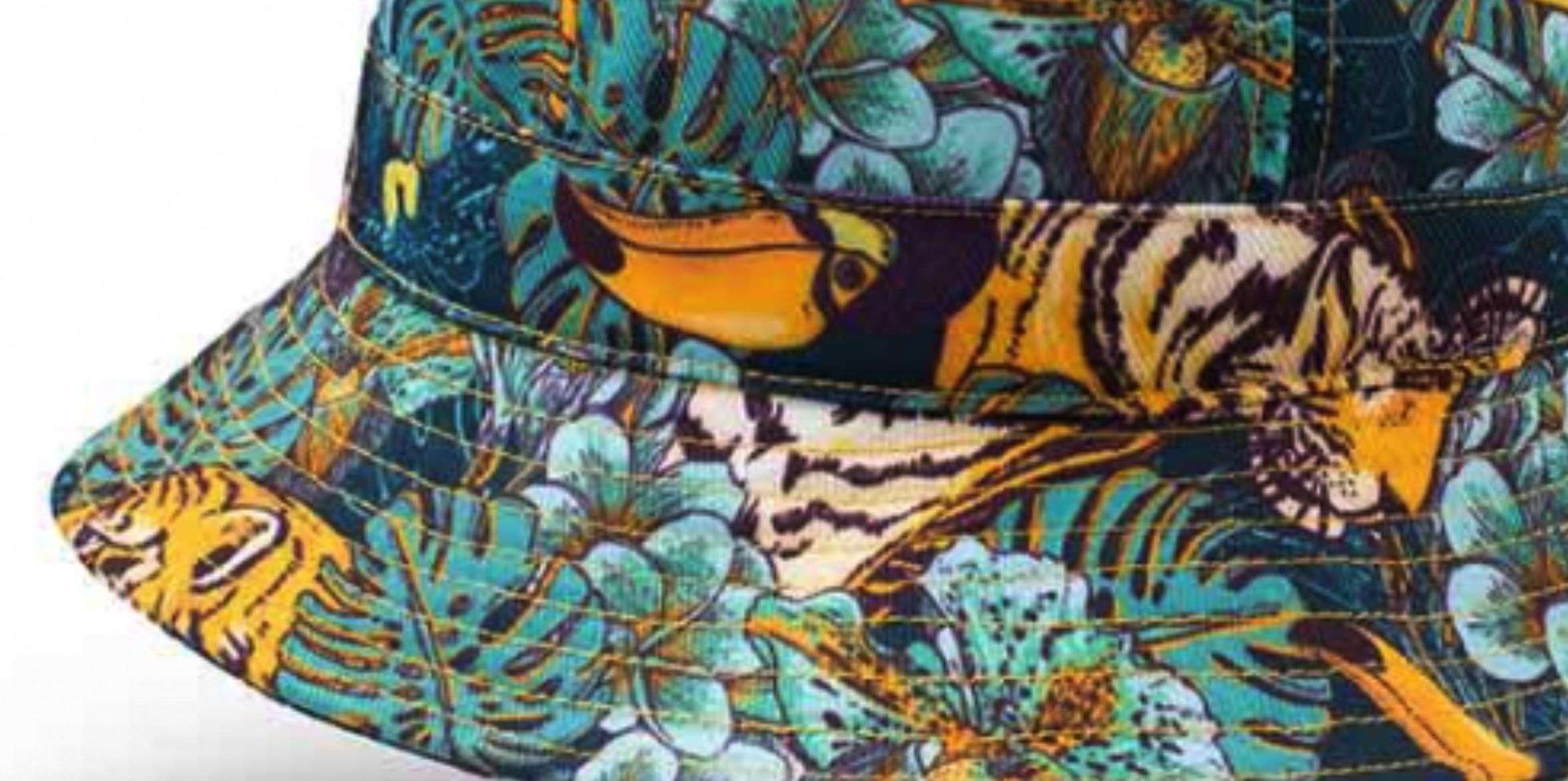 Patroon van de Sherlock Bucket Hoed tijger