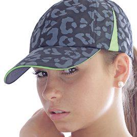 Slam Cap - Grijs groene pet met luipaard motief