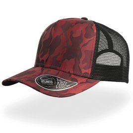 Rapper Camou Cap - bordeaux rood en zwart