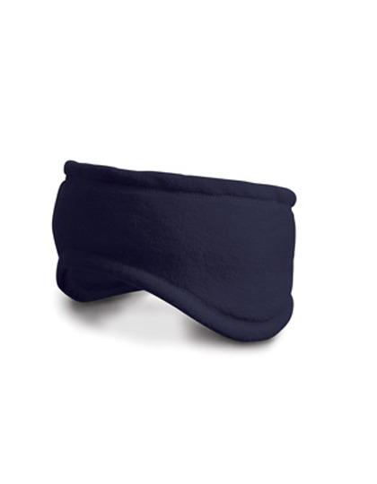 Navy blauwe fleece hoofdband