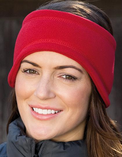Rode fleece hoofdband