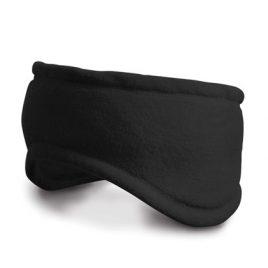 Zwarte fleece hoofdband
