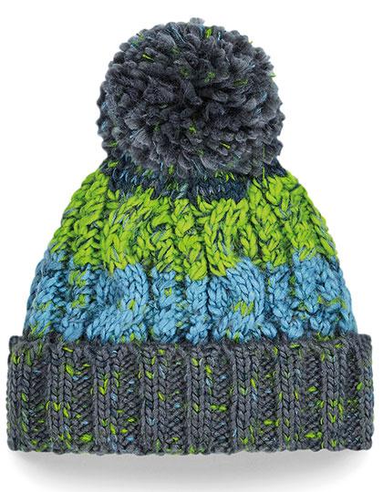 Babymuts Corkscrew - groen en blauw voorkant