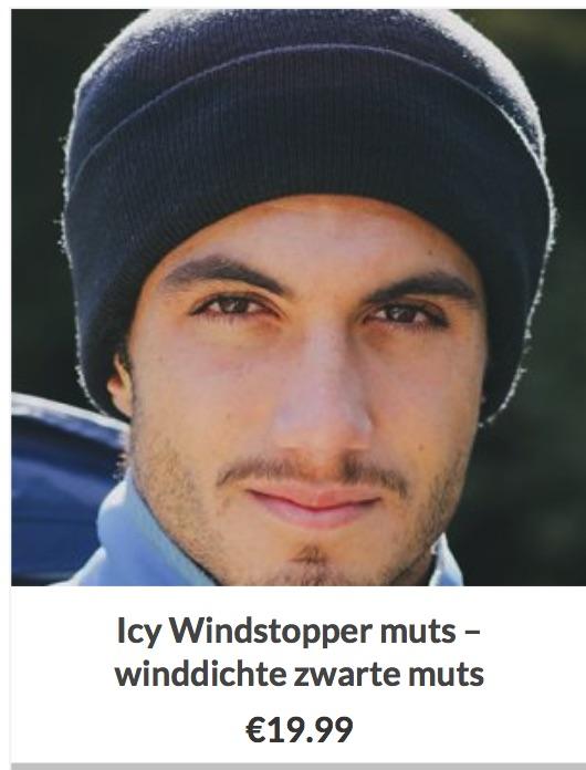 Icy Windstopper muts – winddichte zwarte muts