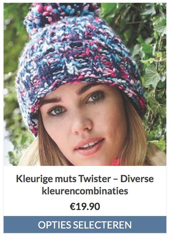 Kleurige muts Twister – Warm en comfortabel