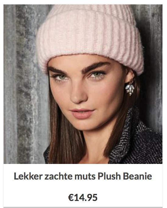 Lekker zachte muts Plush Beanie