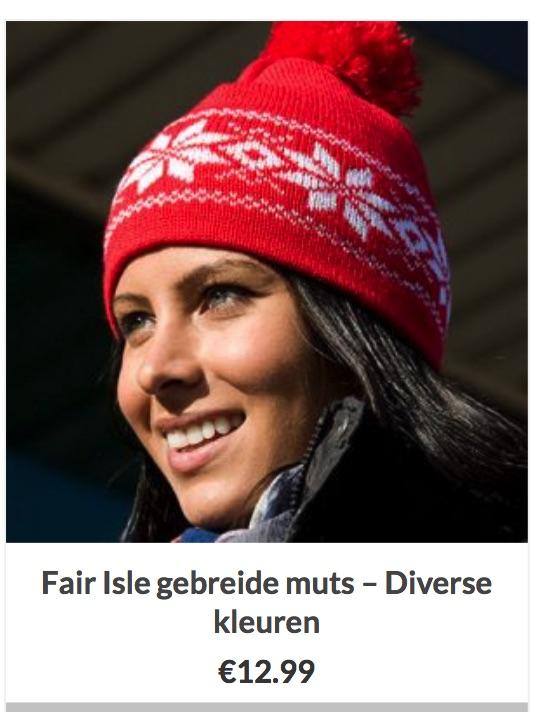 Muts Fair Isle patroon