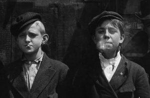 Newsboys in 1910