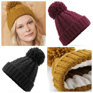 Warme muts voor dames Cable Knit Beanie
