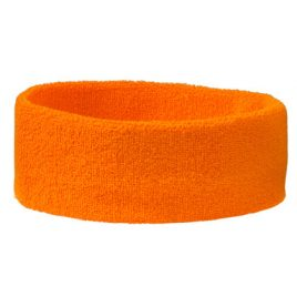 Oranje badstof hoofdband