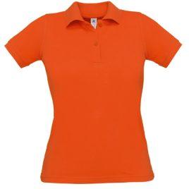 Oranje dames polo - 100% katoen en Oeko-Tex