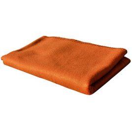 Oranje fleece deken 130 x 160 cm