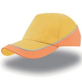 Oranje gele Kid Racing Cap - Vrolijke kinderpet