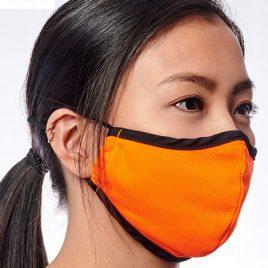Oranje mondkapje