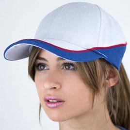Rood Wit Blauwe racing cap